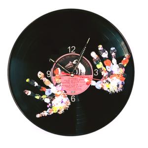 Handprints – Vinyl record clock